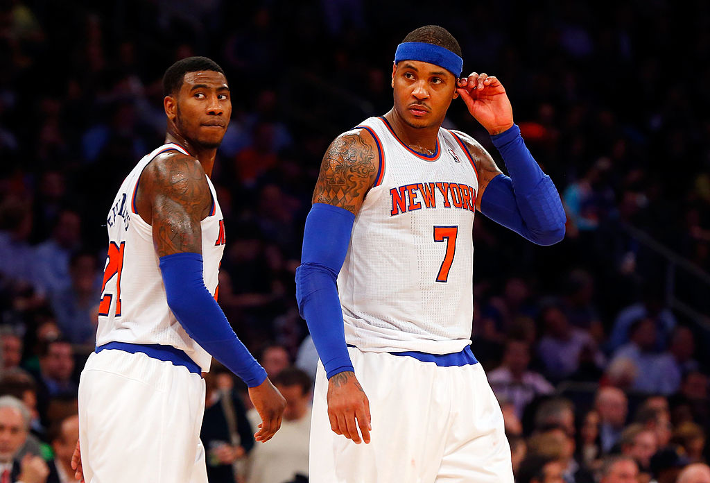 Iman Shumpert recently praised Carmelo Anthony's leadership in the New York Knicks locker room.