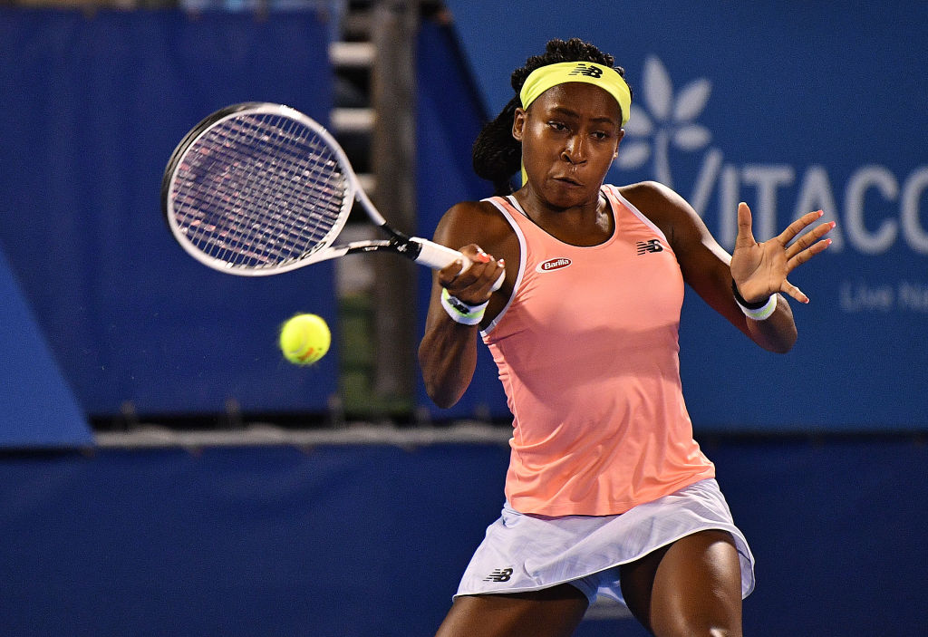 Tennis phenom Coco Gauff, 16, is the youngest player ranked in the top 100 by the Women's Tennis Association. Gauff is helping fundraise to fight the coronavirus.
