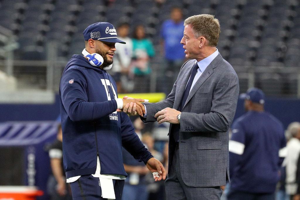 Troy Aikman believes that Dallas Cowboys quarterback Dak Prescott earned a new contract, not a franchise tag.
