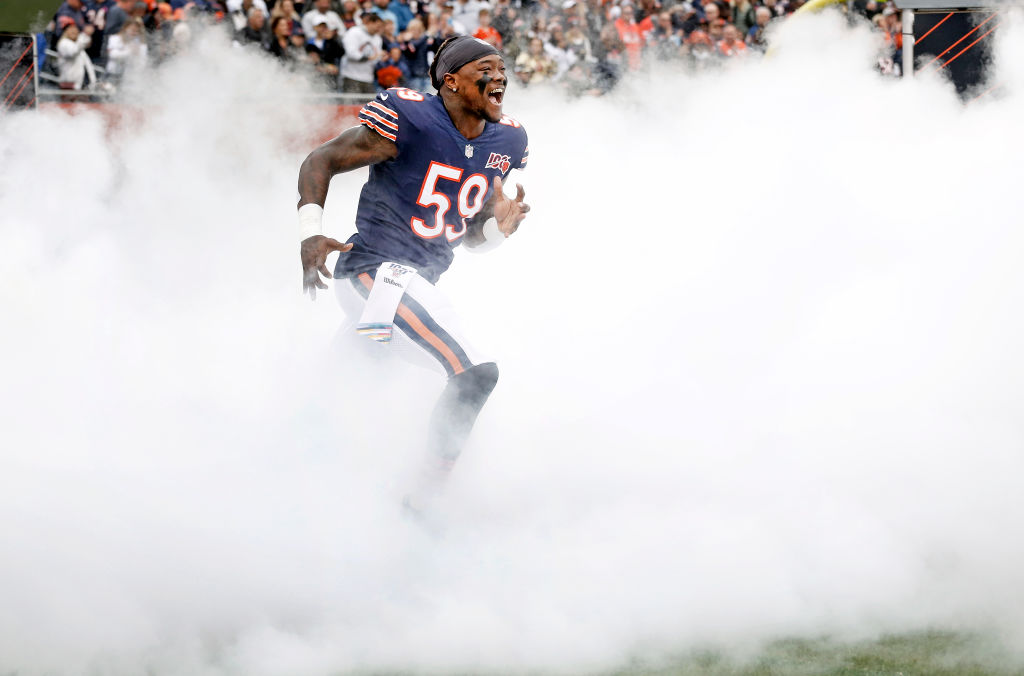 Linebacker Danny Trevathan has been with the Chicago Bears since 2016. Trevathan agreed to stay in Chicago for the next three seasons.