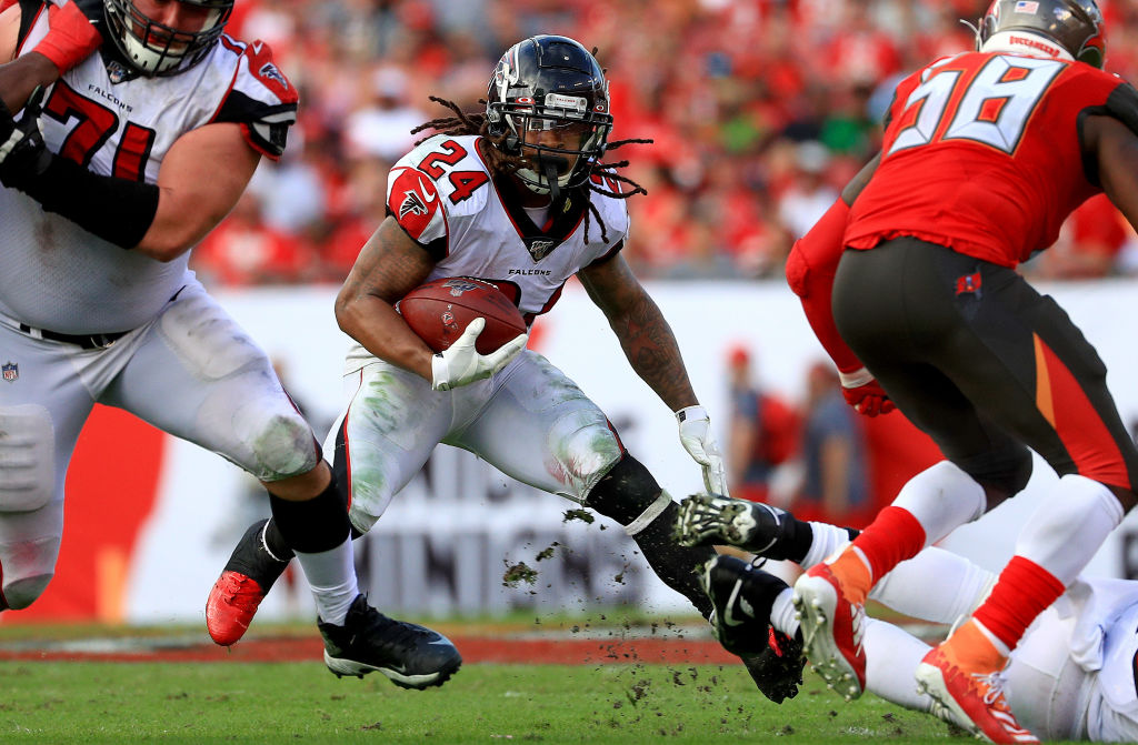 Former Atlanta Falcons running back Devonta Freeman has two seasons with over 1,000 rushing yards.