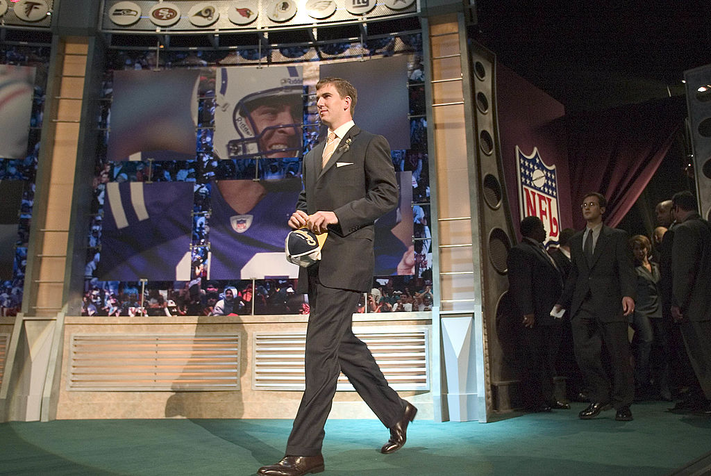 Eli Manning during the 2004 NFL Draft at Madison Sqaure Garden