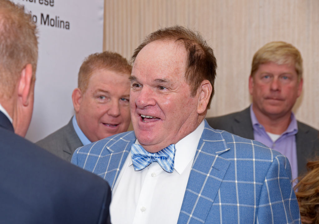 Former MLB great Pete Rose attends a gala in 2019