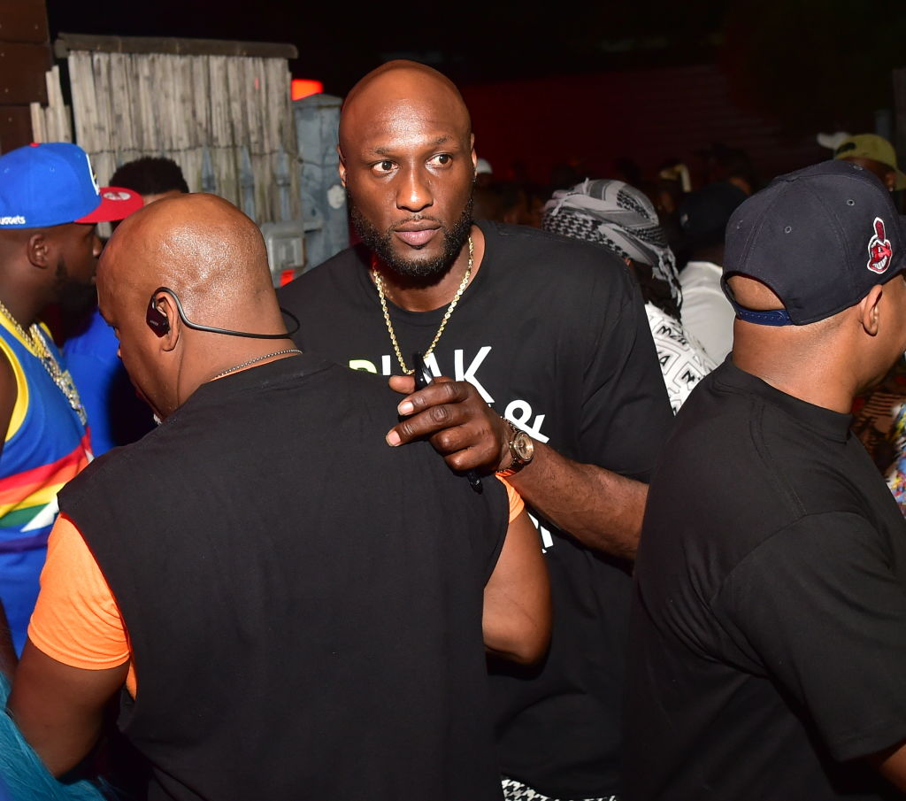 Lamar Odom attends a party in 2019 in Atlanta, Georgia