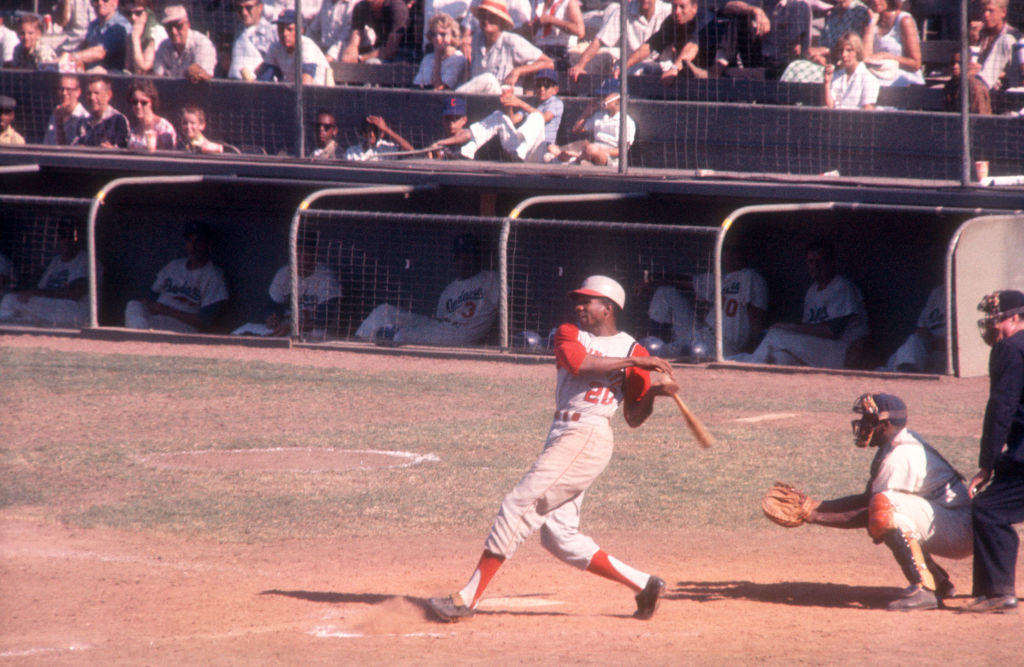 MLB Hall of Famer Frank Robinson ht Opening Day home runs for a record four teams.