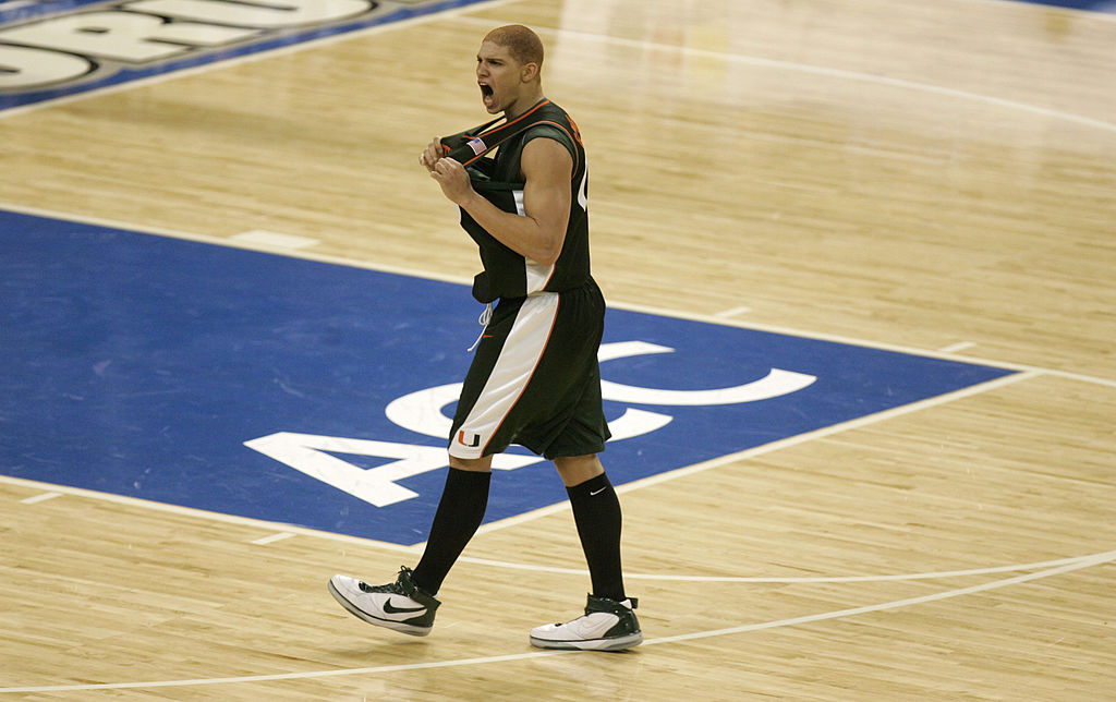 Before Jimmy Graham was catching passes in the NFL, he was catching alley-oops at the University of Miami.