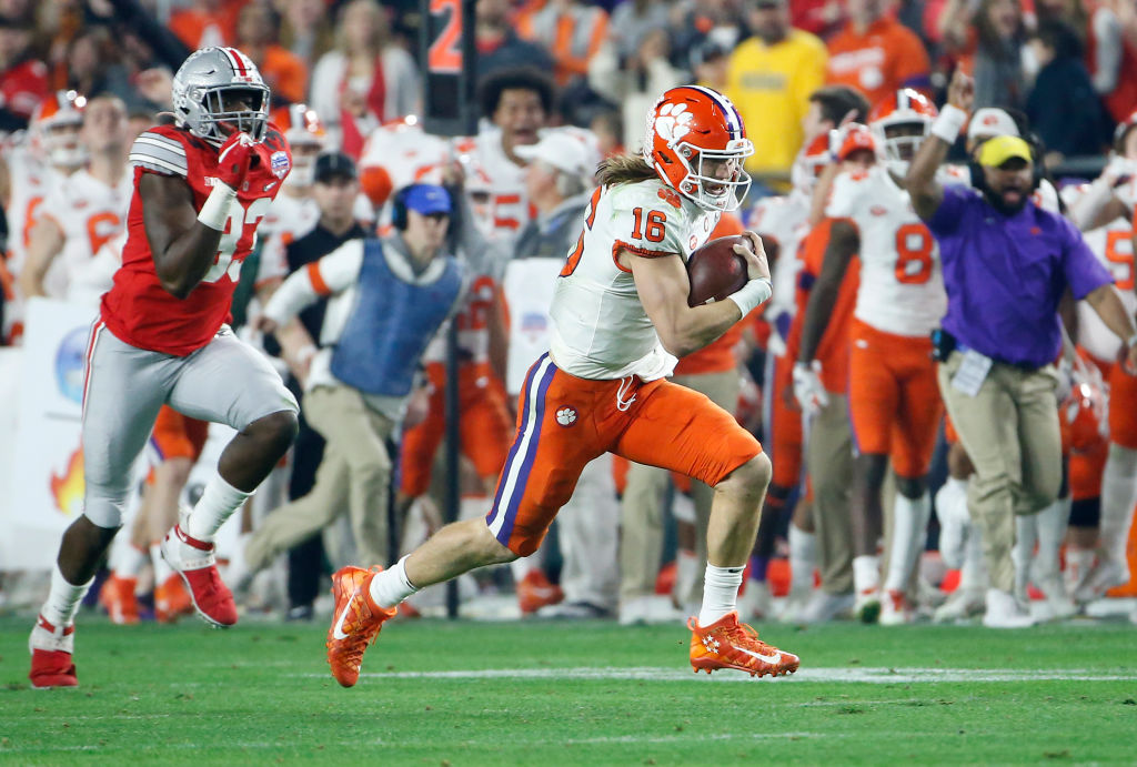 The 2020 college football championship odds were released Tuesday, with Clemson and Ohio State starting as the two favorites.
