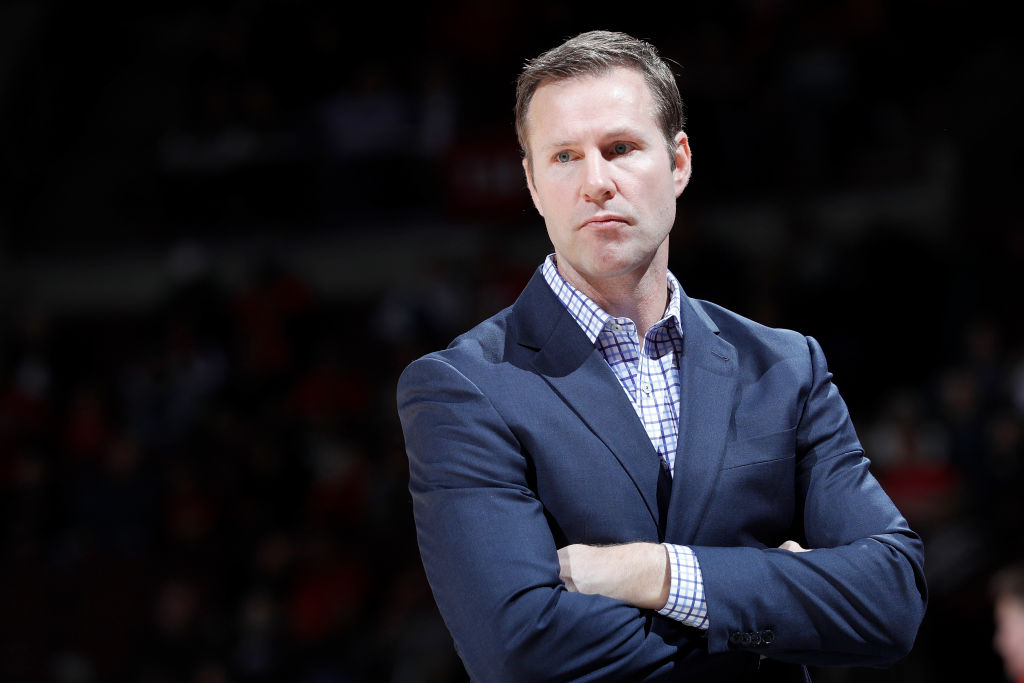 Nebraska head coach Fred Hoiberg fell visibly ill during Wednesday night's Big Ten Tournament game, raising concerns about the coronavirus reaching the NCAA.
