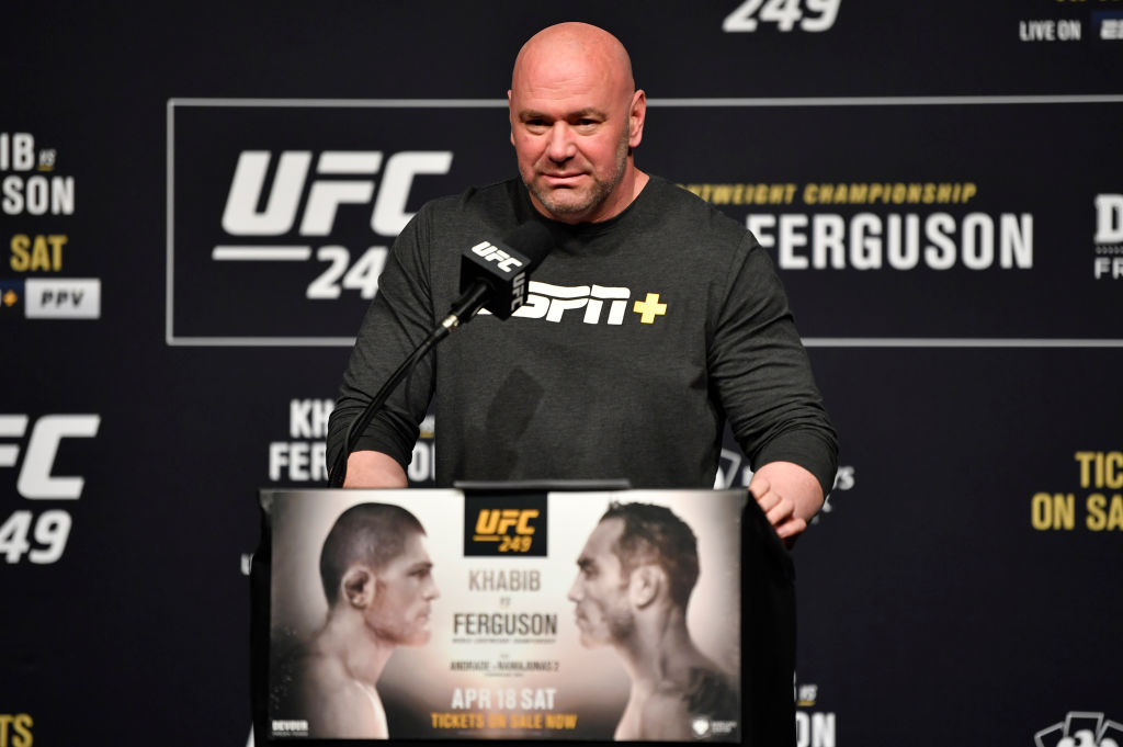 The spread of the coronavirus is putting Khabib Nurmagomedov and Tony Ferguson's UFC title fight in jeopardy, but Dana White is confident it will proceed as planned