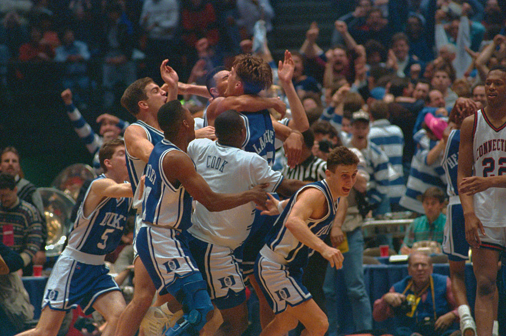 """Christian Laettner was a part of many memorable NCAA Tournament moments, but was """"The Shot"""" against Kentucky the best of all time?"""