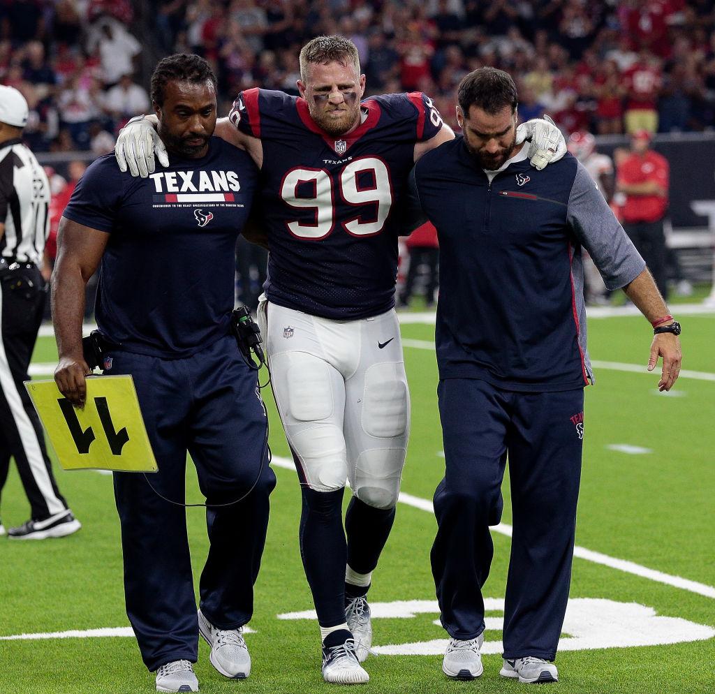 You Won't Believe How Long J.J. Watt's Injury History Is