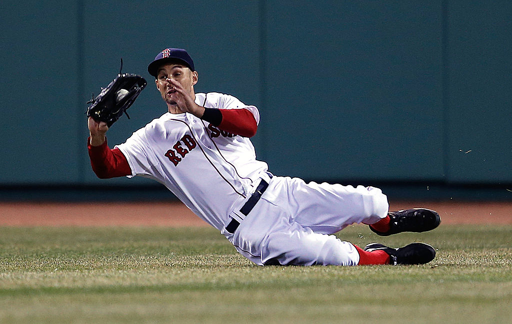 Veteran outfielder Grady Sizemore couldn't return to All-Star form when he played for the Boston Red Sox in 2014.