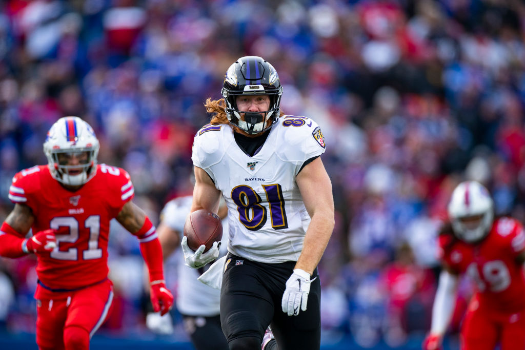 Hayden Hurst of Baltimore Ravens