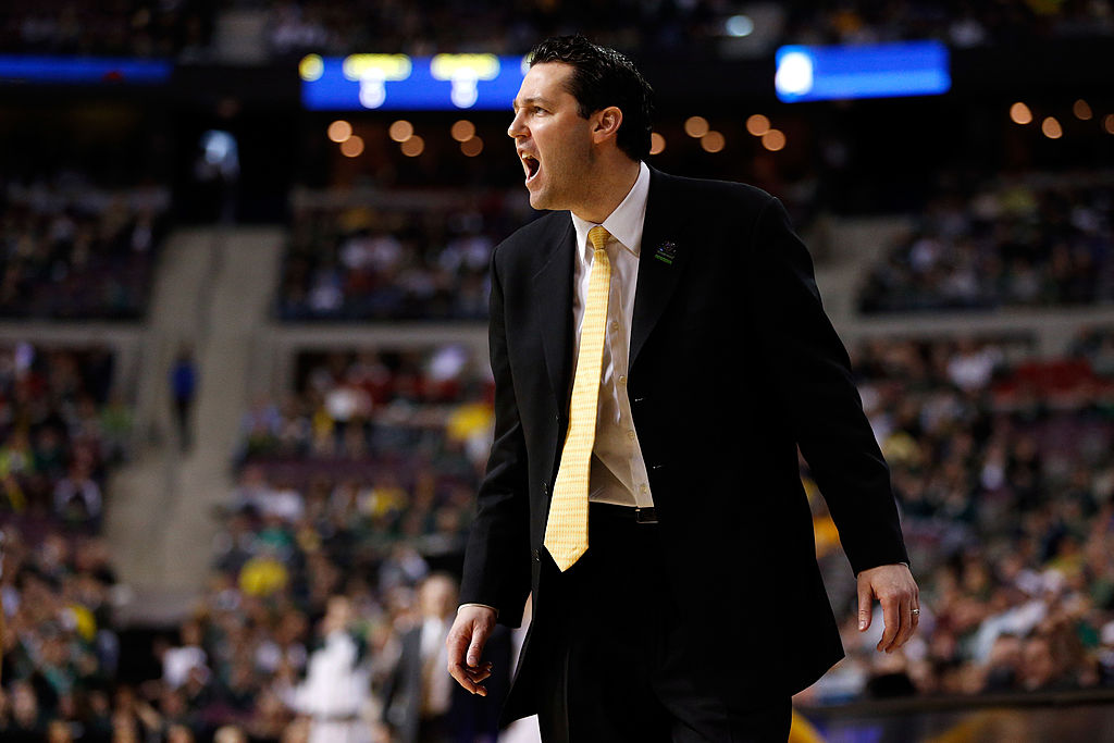 Head coach Bryce Drew of the Valparaiso Crusaders in 2013