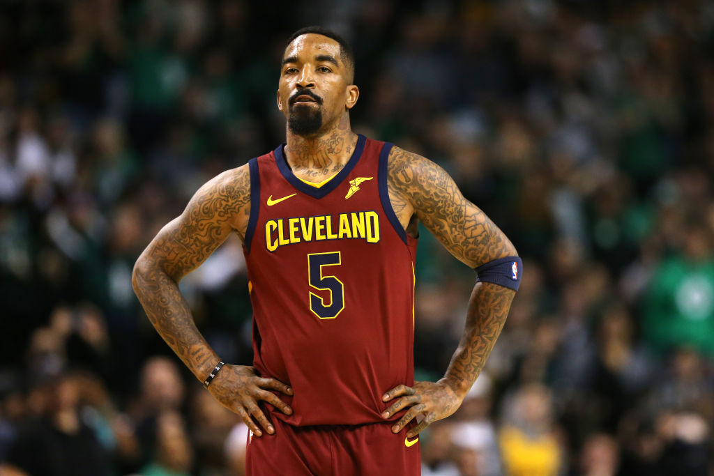 JR Smith with his hands on his hips