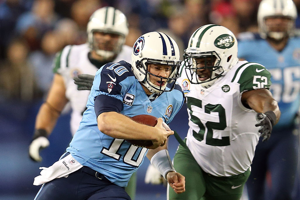 ake Locker flashed at times for the Tennessee Titans, but retired early because of injuries.