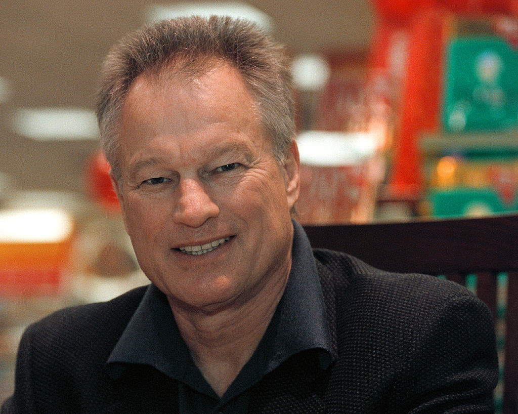 Author and former New York Yankees pitcher Jim Bouton smiles at a book signing event