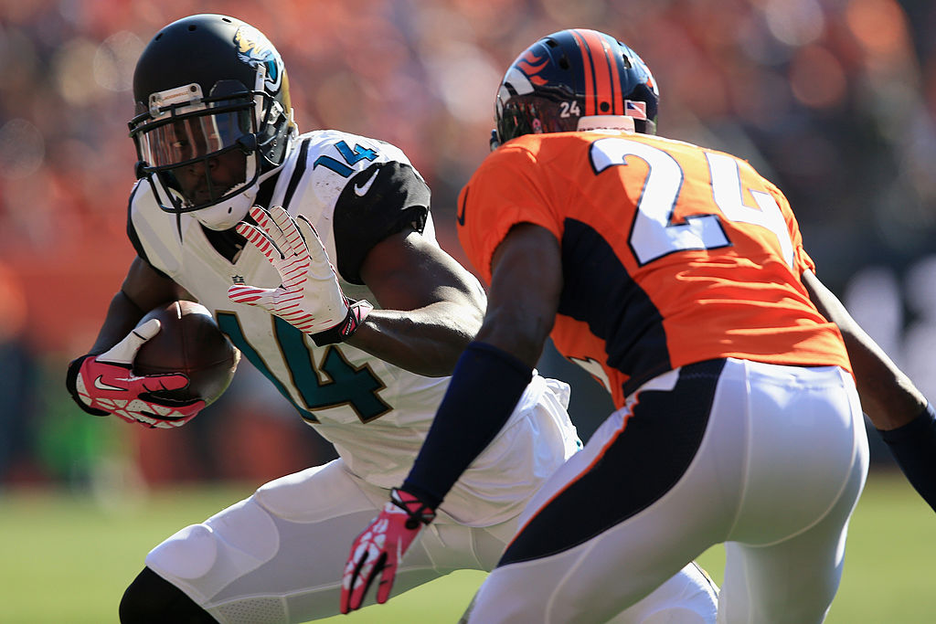 Former top NFL draft pick Justin Blackmon hasn't played since 2013. Blackmon remains on the Jaguars' reserve list, however.