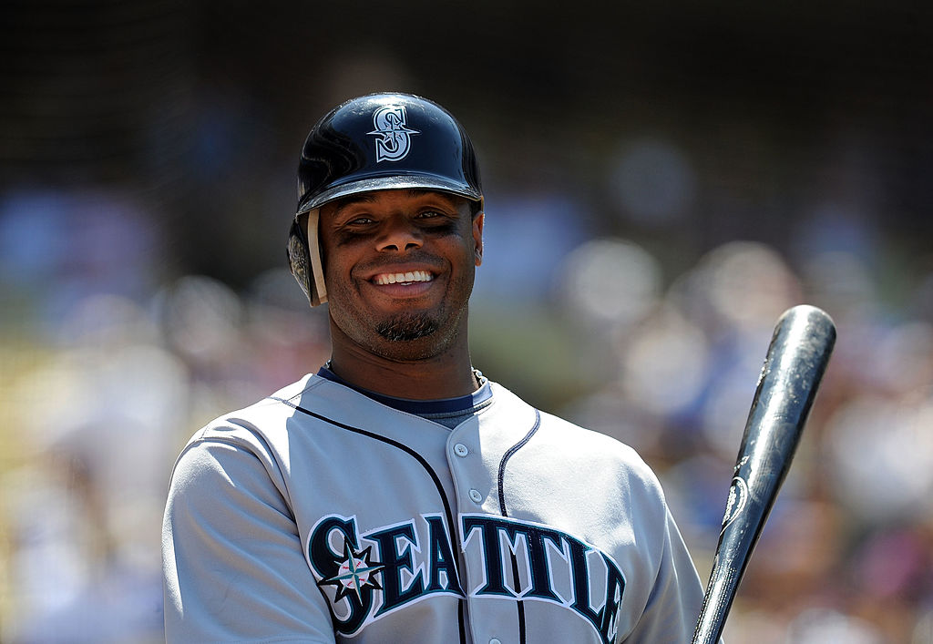 Ken Griffey Jr ready to take an at bat