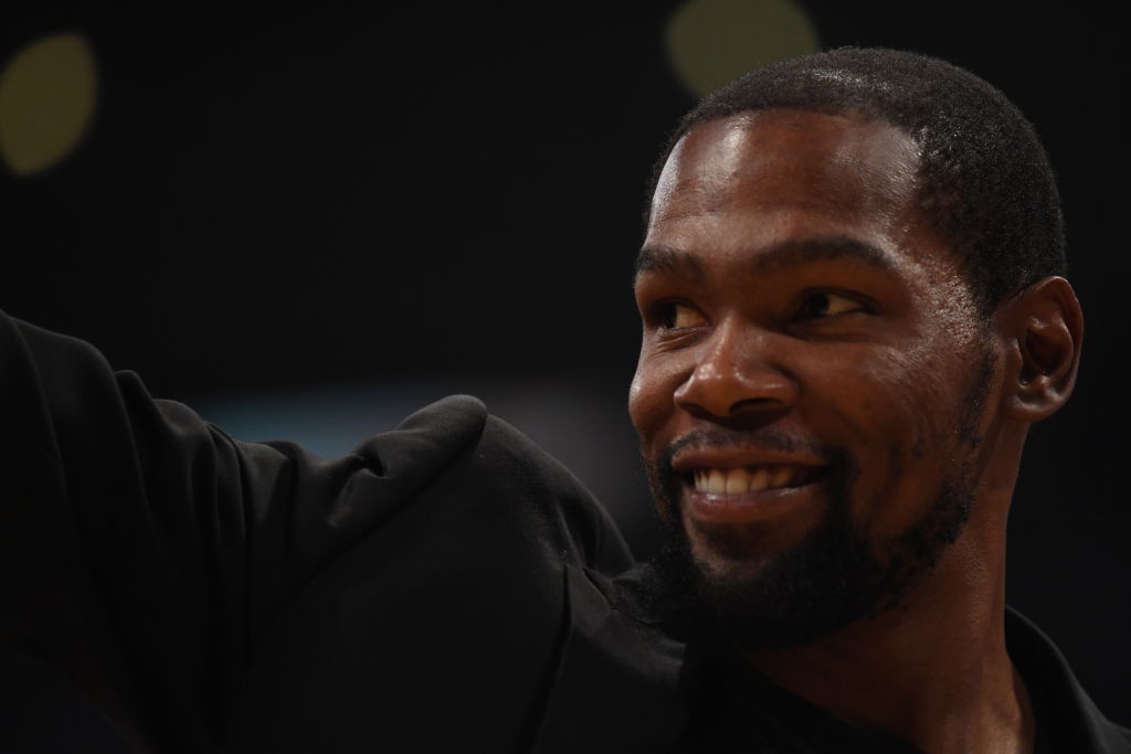 Kevin Durant smiling for a photo