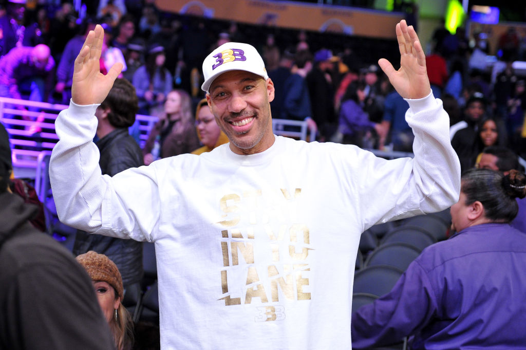 LaVar Ball attends an NBA game in 2018