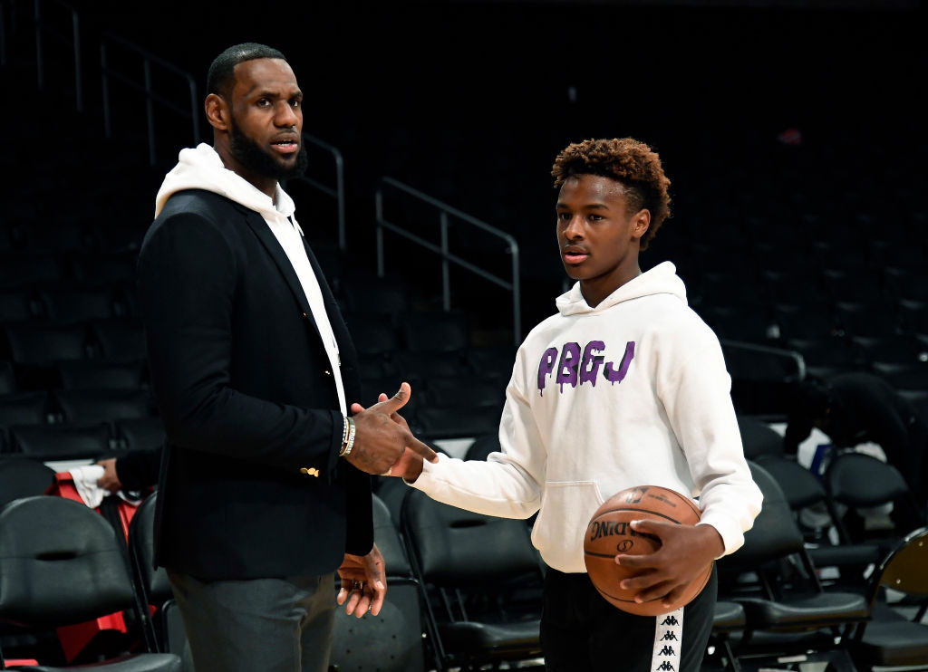 Bronny James could be an NBA superstar like his dad, LeBron James, but the elder James says we all need to slow down talking about that topic.