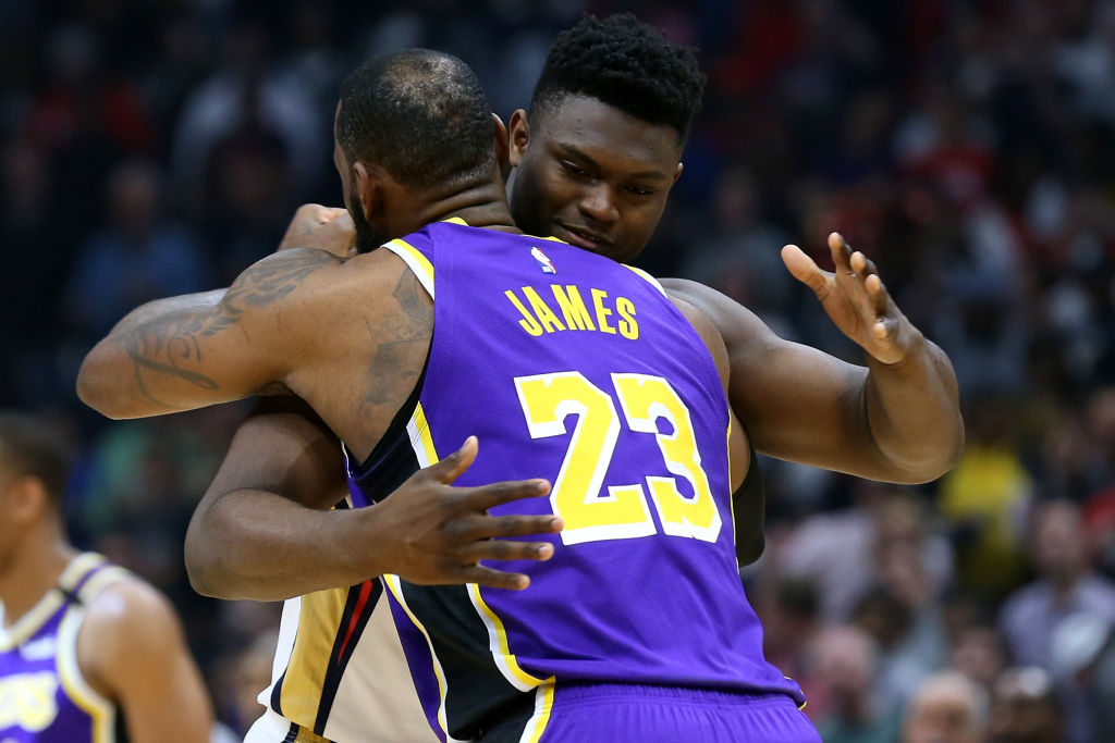 Lakers' LeBron James and Pelicans' Zion Williamson