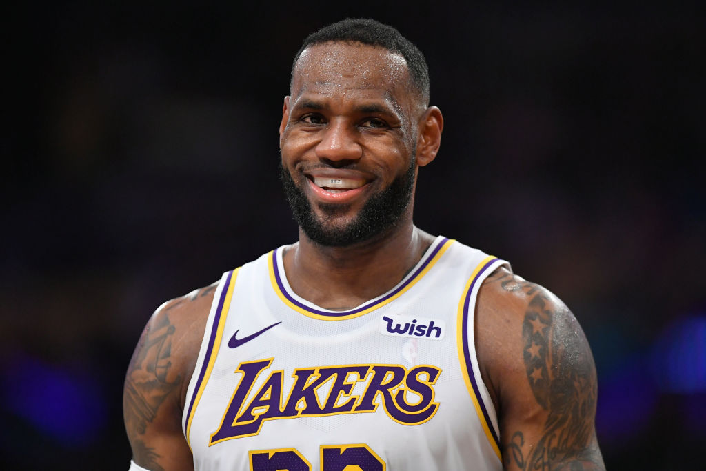 LeBron James of the Lakers