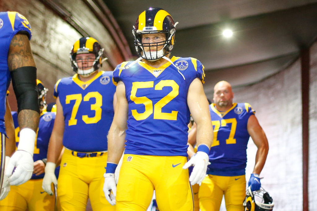 Los Angeles Rams outside linebacker Clay Matthews before a game in 2019