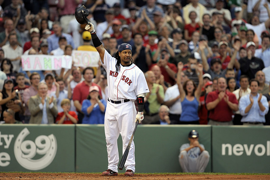 Manny Ramirez won two World Series titles with the Red Sox.