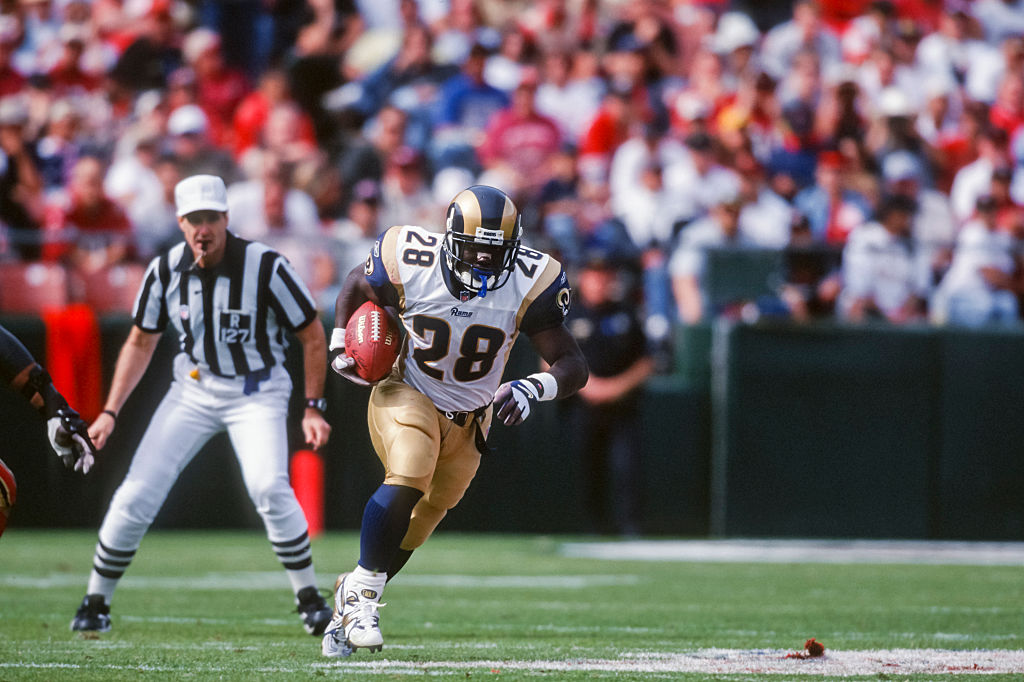 Former St. Louis Rams great Marshall Faulk was the cover athlete on Madden NFL 2003