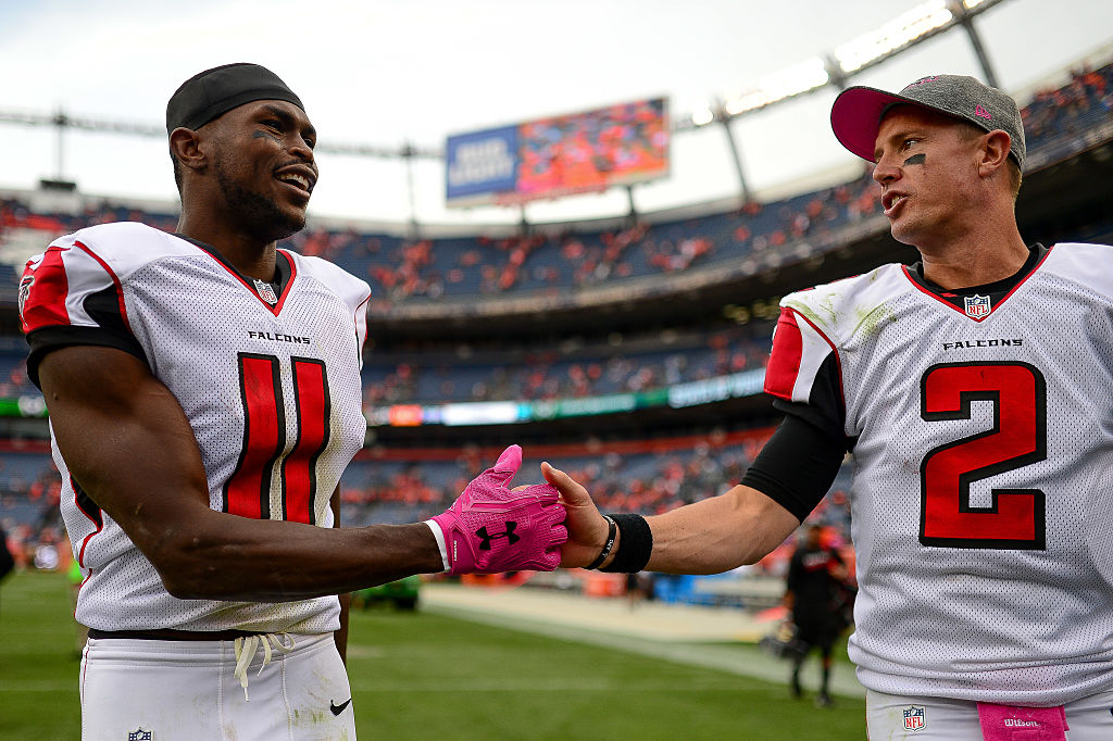 Falcons receiver Julio Jones forms a dangerous tandem with quarterback Matt Ryan.