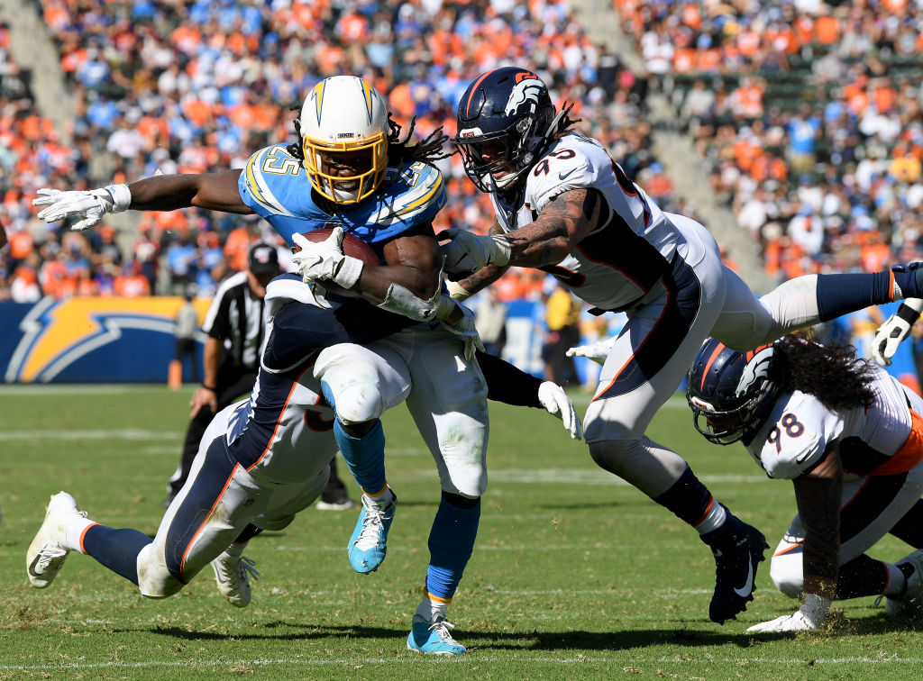 Former Los Angeles Chargers running back Melvin Gordon signed a two-year deal with the rival Denver Broncos.