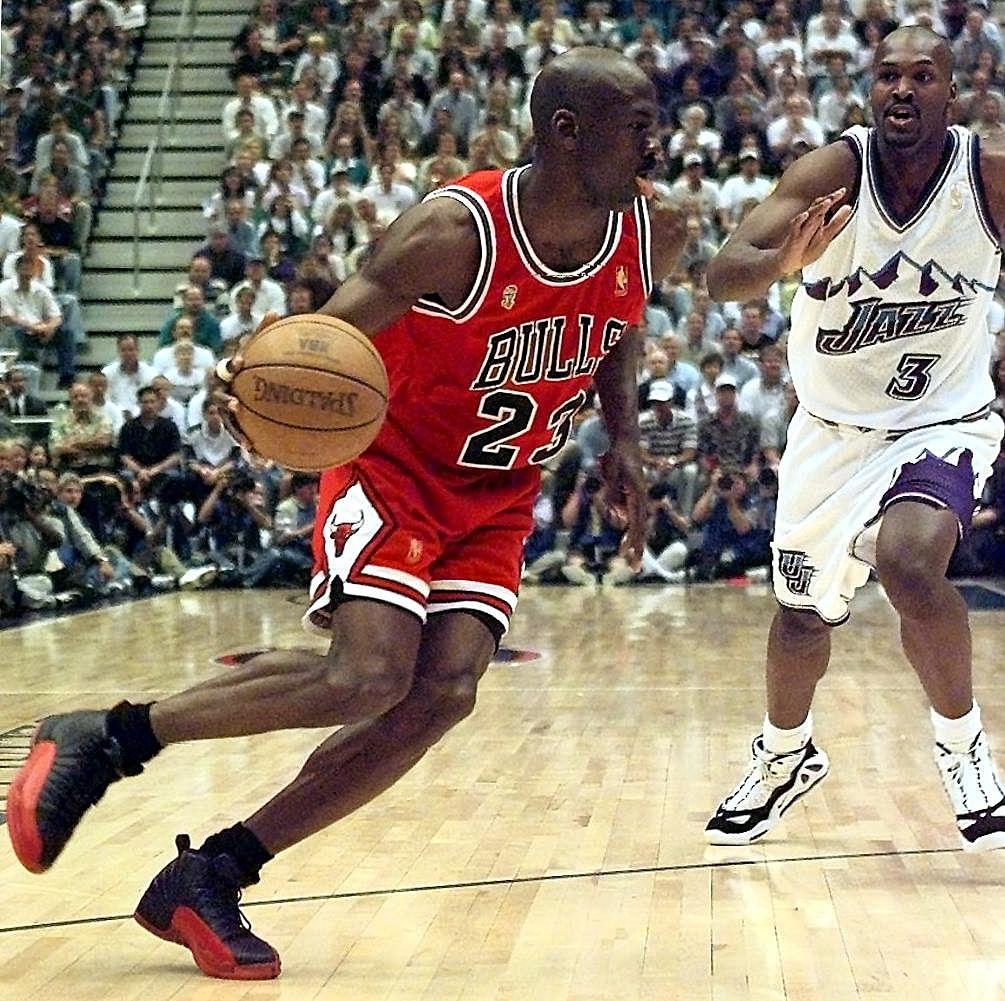 Michael Jordan playing against the Utah Jazz