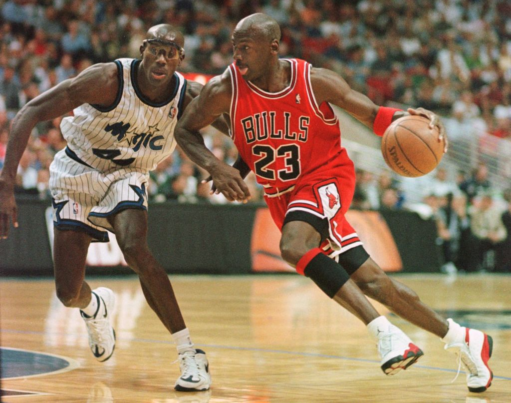 Michael Jordan of Chicago Bulls