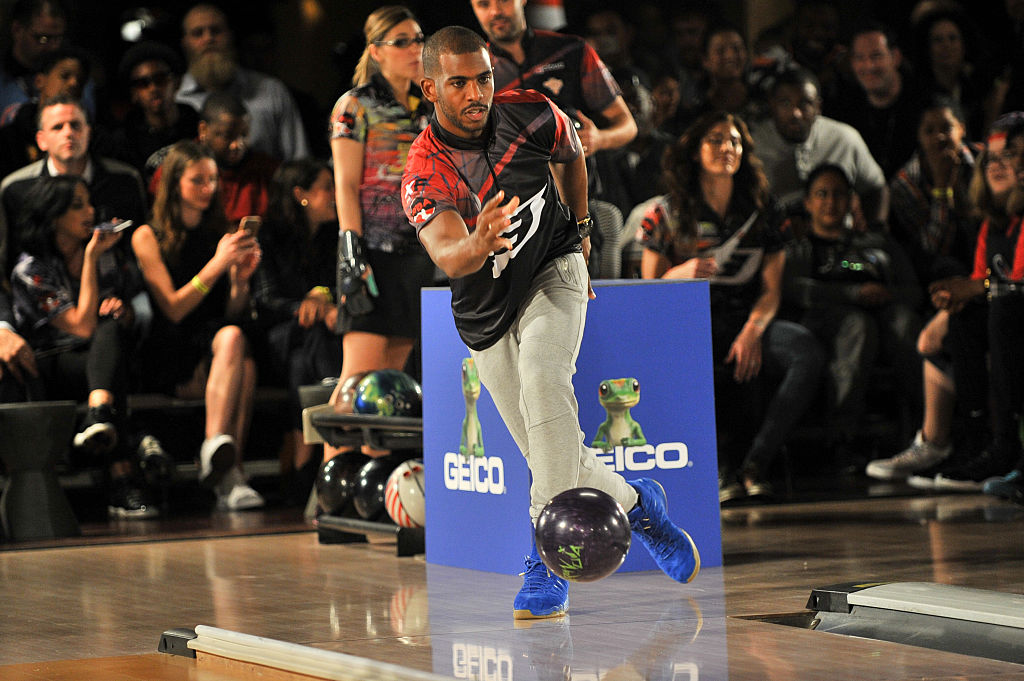 NBA star Chris Paul participates in the CP3 PBA Celebrity Invitational Charity Bowling Tournament