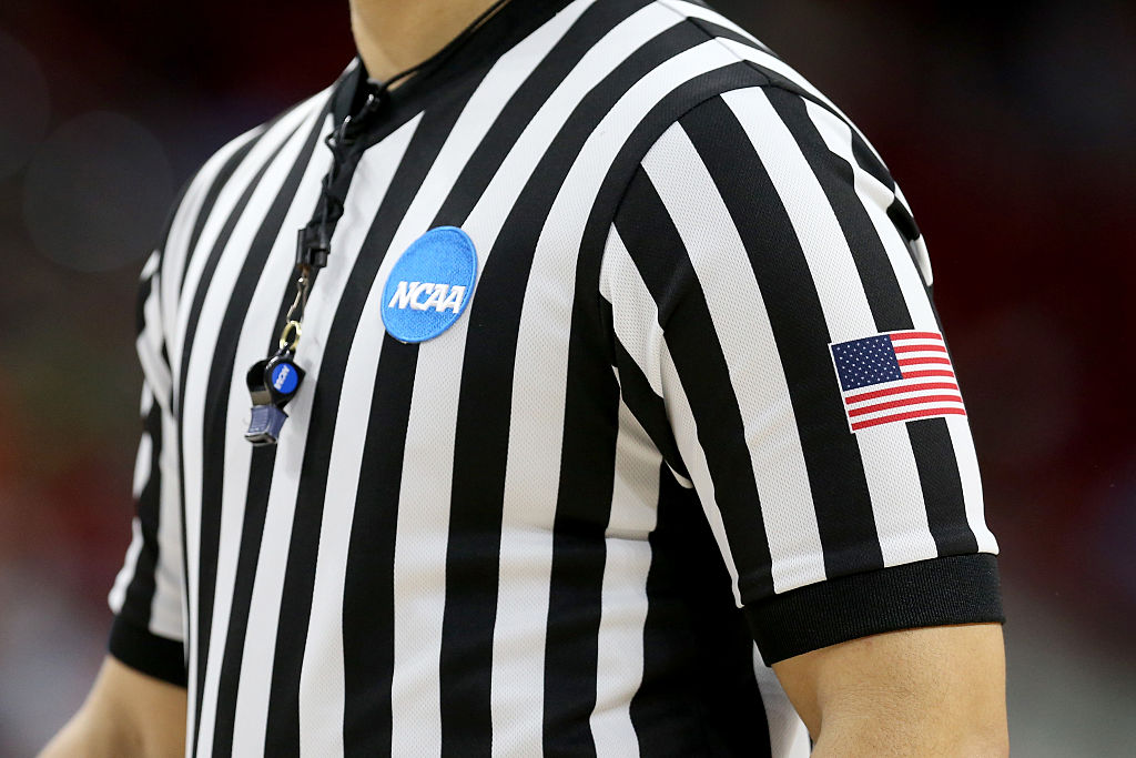 An NCAA Tournament college basketball referee