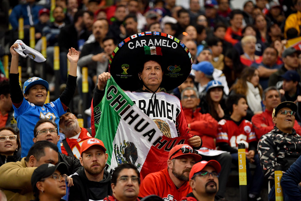 NFL fans in Mexico watch an NFL game between the Los Angeles Chargers and Kansas City Chiefs