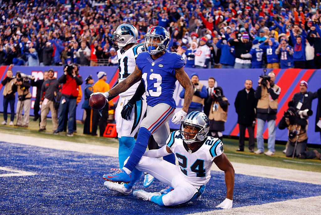 Aside from a spat with Carolina Panthers defensive back Josh Norman, Giants receiver Odell Beckham Jr. (13) had a terrific 2015 season.