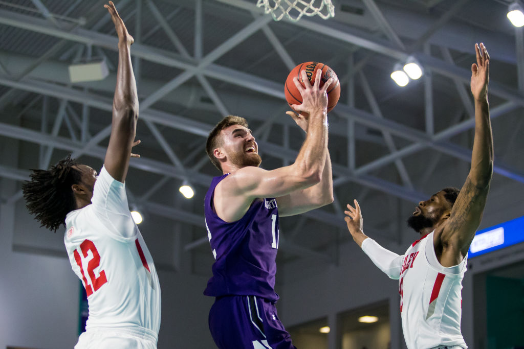 Former Northwestern lacrosse player Pat Spencer averaged 10.5 points for the men's basketball team this year.