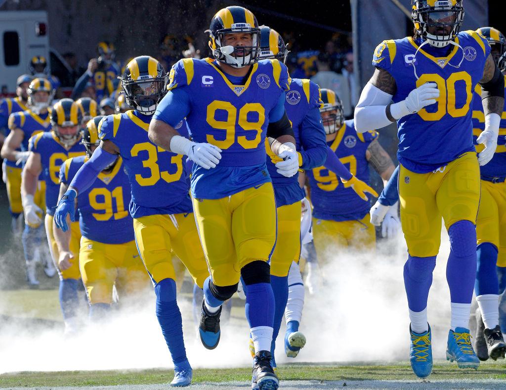 Rams defensive tackle Aaron Donald
