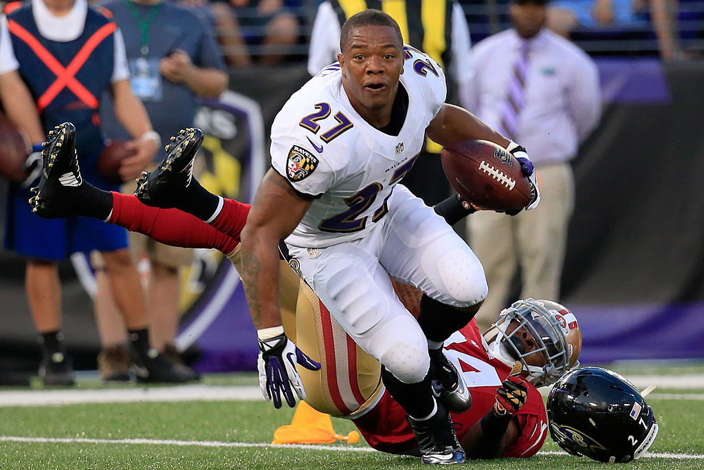 Ray Rice made two All-Pro teams in his six seasons with the Baltimore Ravens.