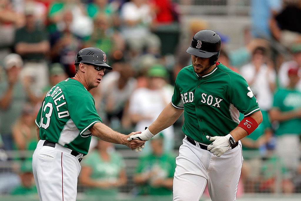 The Boston Red Sox have worn green jerseys on St. Patrick's Day every year since 2004.