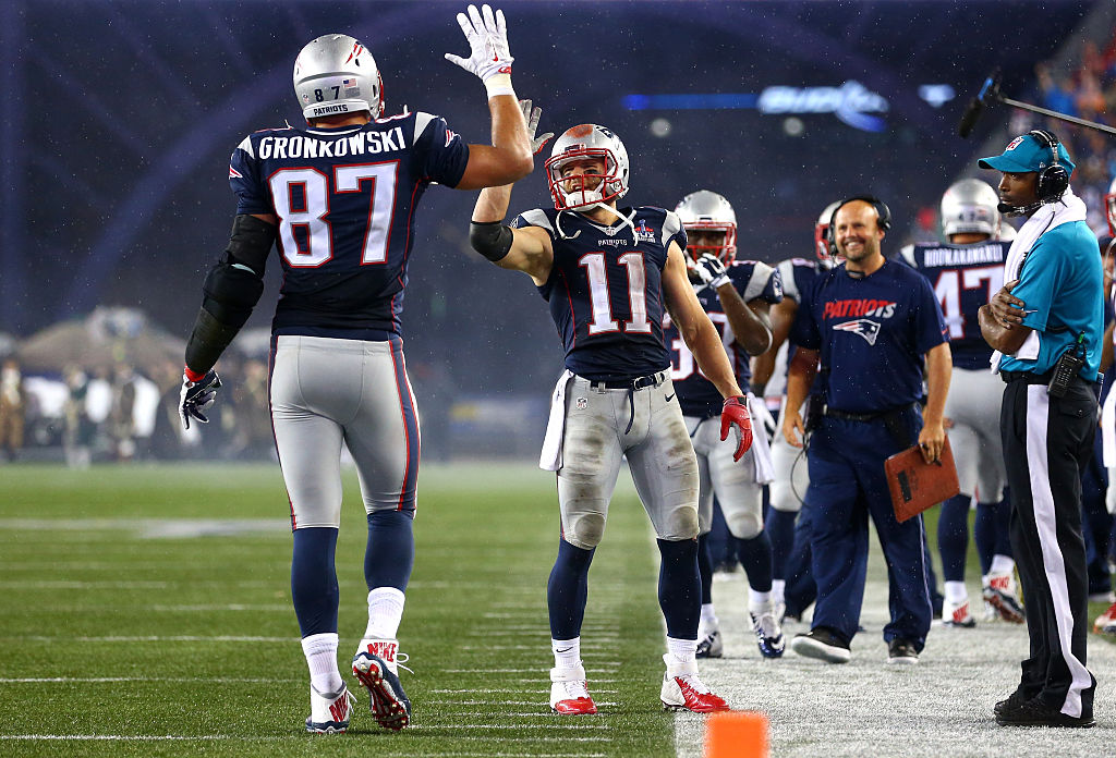 Rob Gronkowski and Julian Edelman were two reliable targets for Tom Brady.