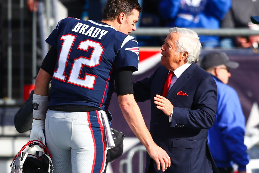 New England Patriots owner Robert Kraft has praised Tom Brady following the quarterback's departure for Tampa Bay.