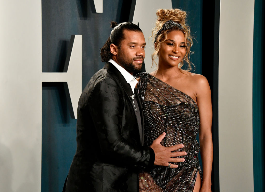 Russell Wilson and Ciara attend the 2020 Vanity Fair Oscar Party