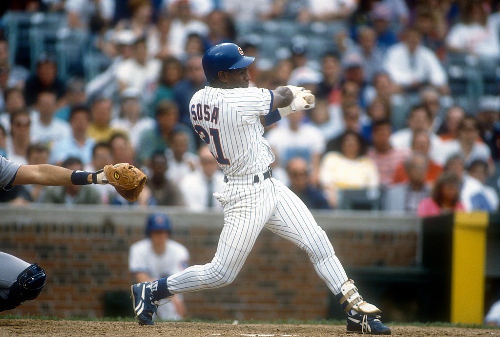 The Chicago Cubs acquired young outfielder Sammy Sosa from the crosstown White Sox on March 30, 1992. Sosa ended his Cubs career with the most home runs in franchise history.