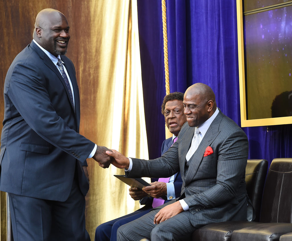 Shaquille O'Neal and Magic Johnson