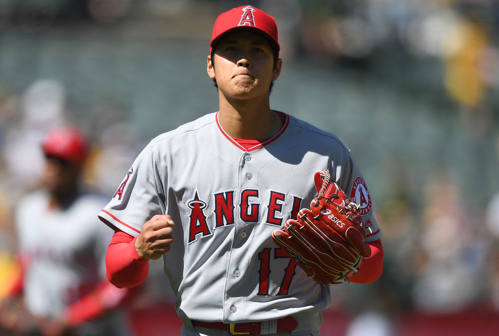 Los Angeles Angels two-way player Shohei Ohtani sturck out six in his pitching debut on April 1, 2018.