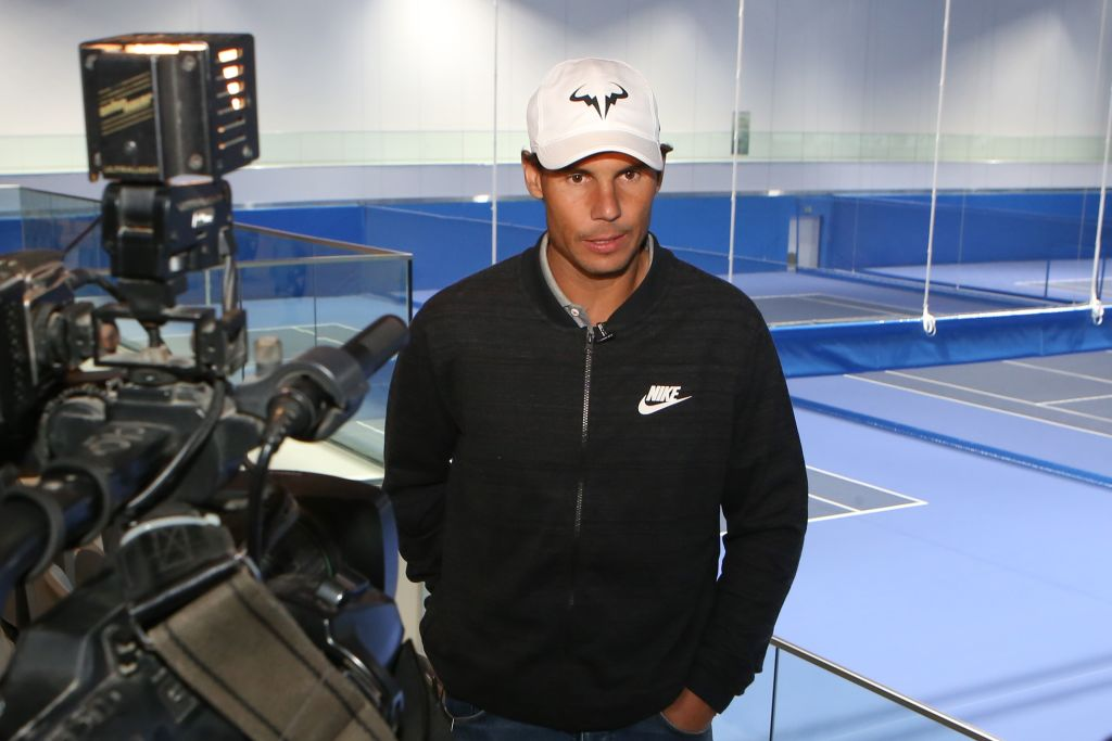 Spain's Rafael Nadal speaks during an interview